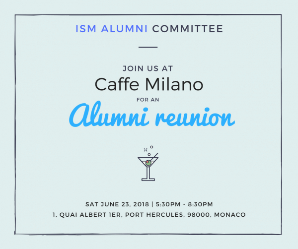 ISM  Alumni Event - Cocktail Party