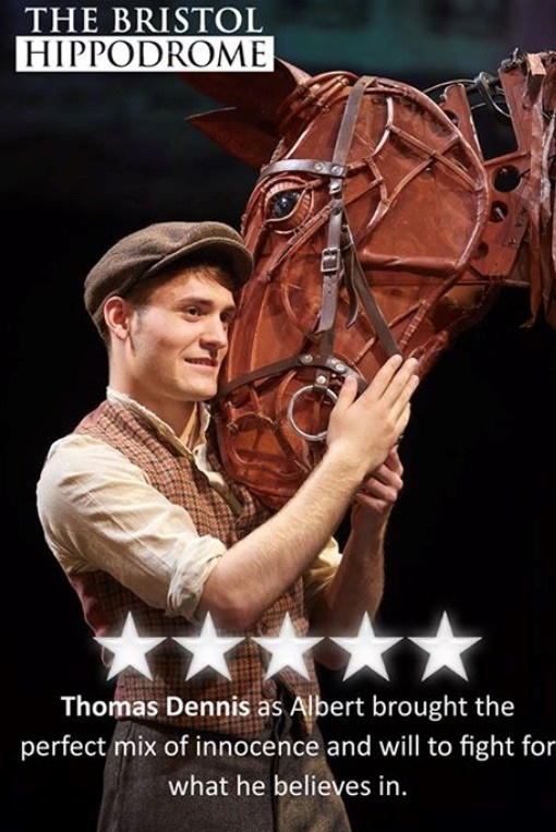 Thomas Dennis - five star reviews for his theatre performances